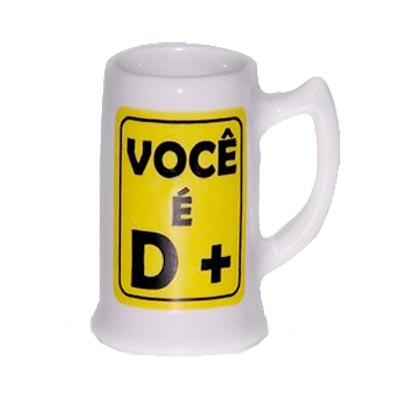 Caneca de Porcelana Mini Cheers Decorativa
