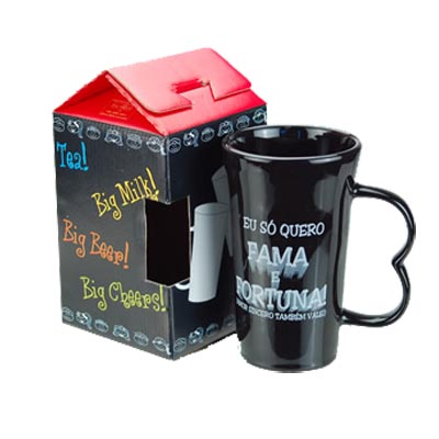 Caneca de Porcelana Big One Color